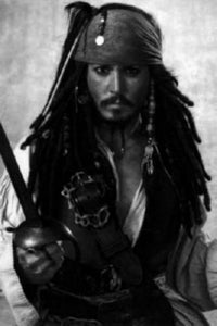Johnny Depp black and white poster