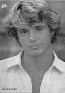 John Schneider black and white poster