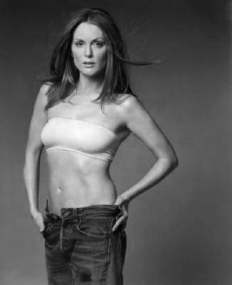 Julianne Moore black and white poster