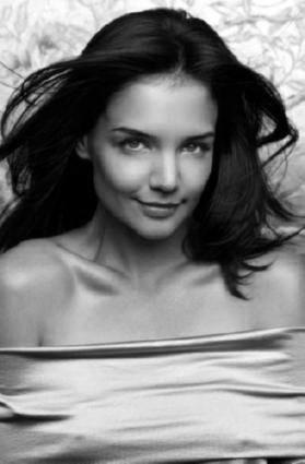 Katie Holmes black and white poster