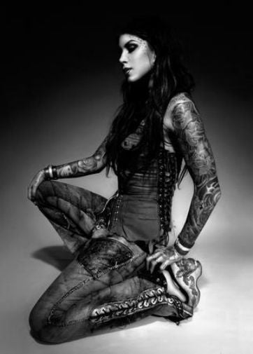 Kat Von D black and white poster