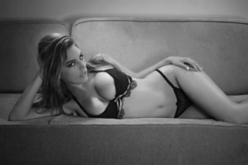 Kelly Brook black and white poster