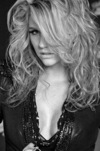 Kesha Ke$Ha black and white poster