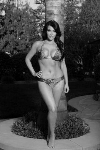 Kim Kardashian black and white poster