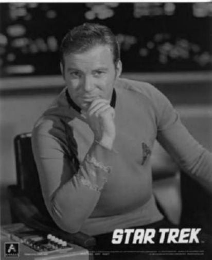 Star Trek Tos black and white poster