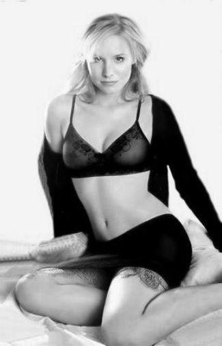 Kristen Bell black and white poster