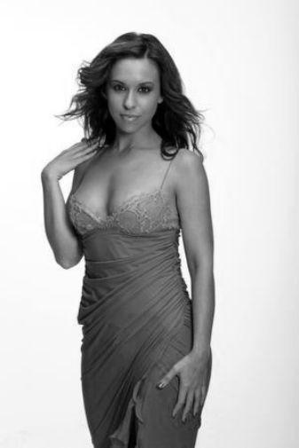 Lacey Chabert black and white poster