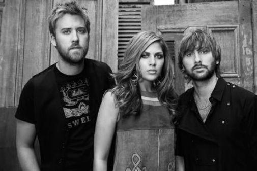Lady Antebellum black and white poster