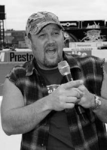 Larry The Cable Guy black and white poster