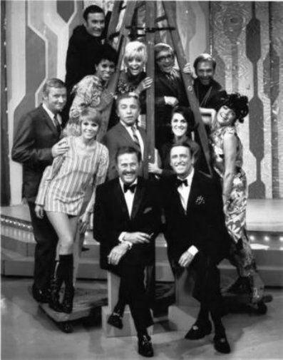 Laugh In Original Cast black and white poster