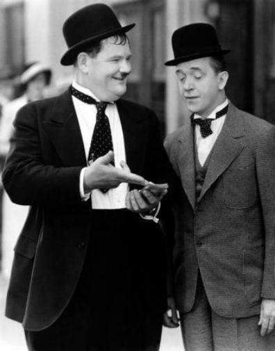 Laurel And Hardy poster tin sign Wall Art