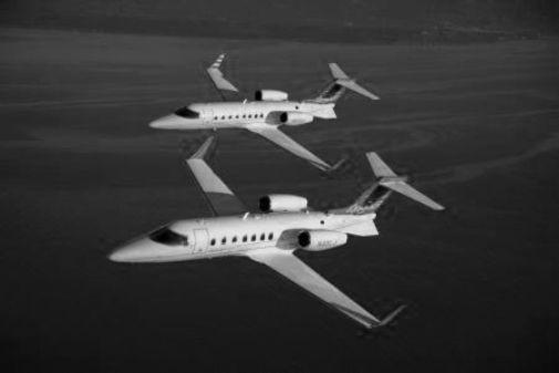Lear Jet black and white poster