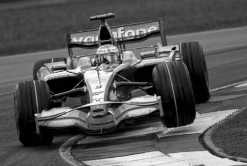 Lewis Hamilton black and white poster