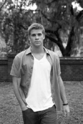 Liam Hemsworth black and white poster