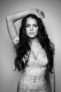 Lindsay Lohan black and white poster