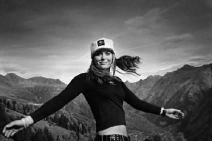Lindsey Vonn black and white poster