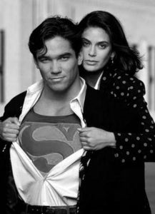 Lois And Clark black and white poster