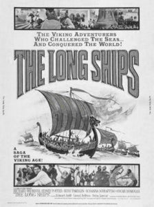 Long Ships black and white poster