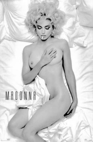 Madonna black and white poster