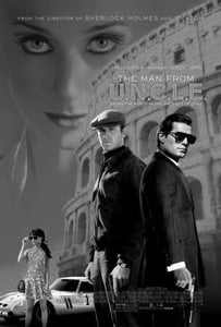 Man From Uncle black and white poster
