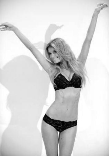 Marisa Miller black and white poster