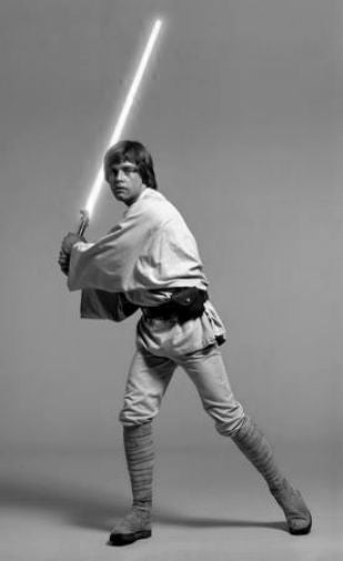 Mark Hamill black and white poster