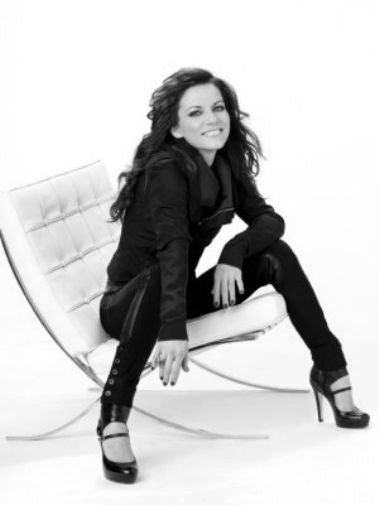 Martina Mcbride black and white poster