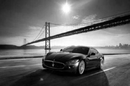 Maserati Gt Poster Black and White Mini Poster 11