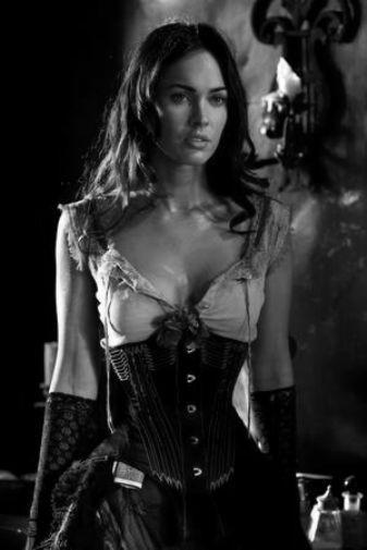 Megan Fox black and white poster