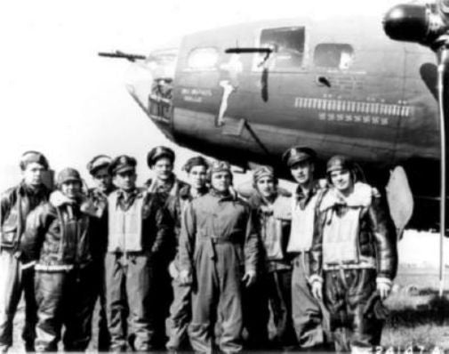 Memphis Belle Crew black and white poster