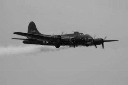 Memphis Belle black and white poster