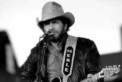 Merle Haggard black and white poster