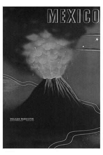 Mexico Volcano poster tin sign Wall Art