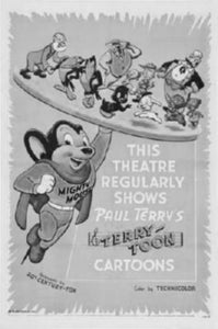Mighty Mouse black and white poster