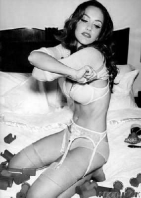 Minka Kelly black and white poster