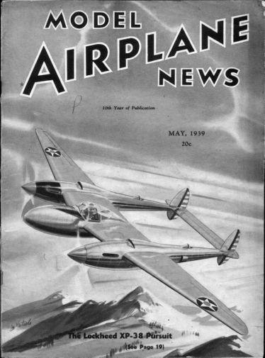Model Airplane News 1939 black and white poster