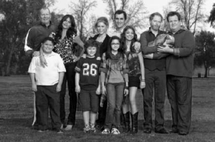Modern Family black and white poster