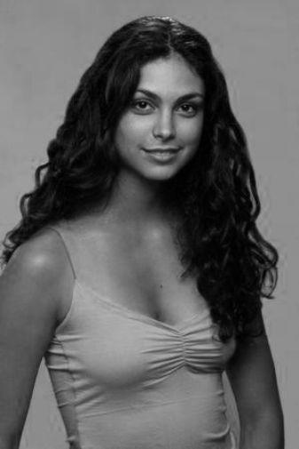 Morena Baccarin black and white poster