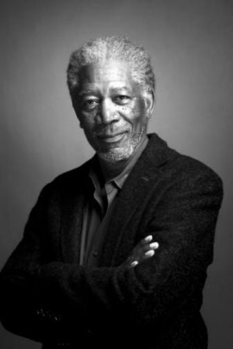 Morgan Freeman black and white poster