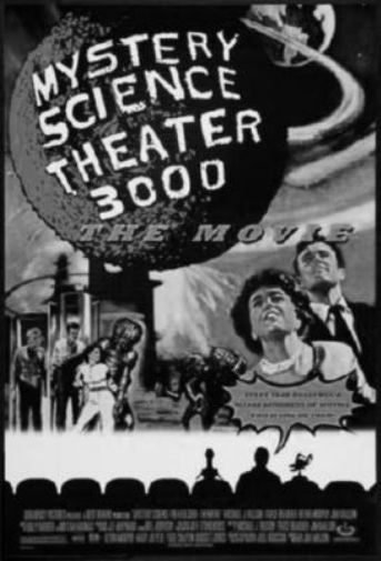 Mystery Science Theater 3000 Stk3K black and white poster