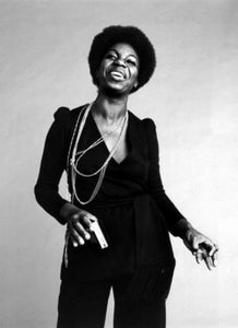 Nina Simone black and white poster