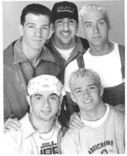 Nsync black and white poster