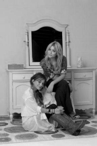 Olsen Twins black and white poster