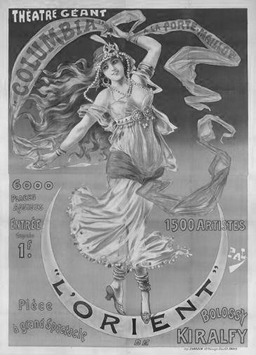 Vintage Showgirl Advertising black and white poster