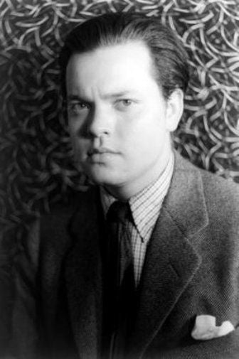Orson Welles black and white poster