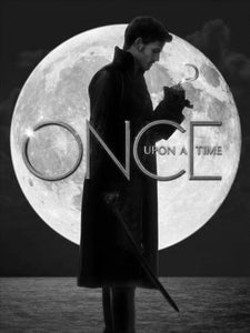 Once Upon A Time black and white poster