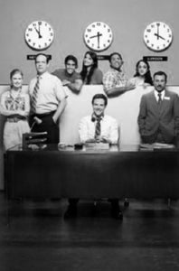 Outsourced black and white poster