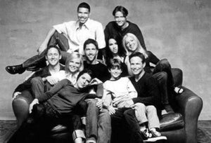Party Of Five black and white poster