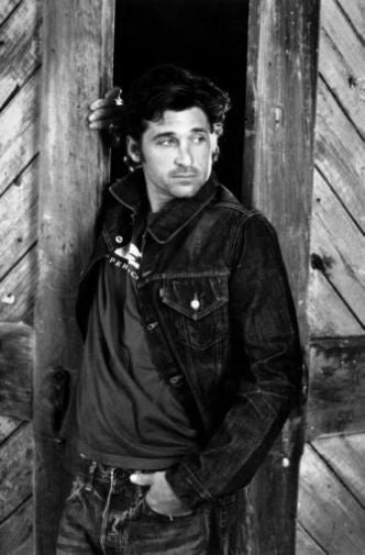 Patrick Dempsey black and white poster