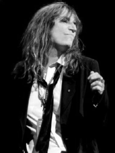 Patti Smith black and white poster